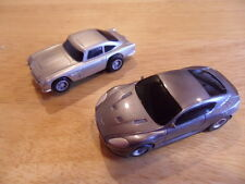 SCALEXTRIC MICRO 007 JAMES BOND ASTON MARTIN DB5 AND DBS EXCELLENT CONDITION