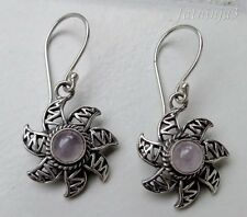 Gemstone Sterling Silver, 925 Balinese Sunlight Design Earring 23434
