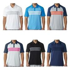 adidas Golf 2017 climacool 3 STRIPES da gara Uomo Polo ERA