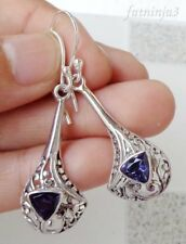 Gemstone Solid Silver, 925 Bali Handcrafted Earring 24774