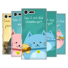 HEAD CASE DESIGNS CURIOUS CATS HARD BACK CASE FOR SONY XPERIA X COMPACT