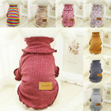 Pet Dog Warm Clothes Coat Jumper Sweater Puppy Cat Knitwear Sweatshirt Costume