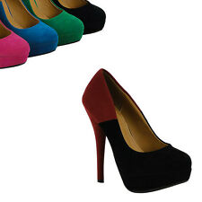 Damen Pumps 94607 Schuhe Colorblocking Stiletto 36-41 Top