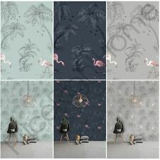 HOLDEN FLAMINGO LAKE WALLPAPER FEATURE WALL DECOR DUCK EGG, BLUE AND GREY NEW
