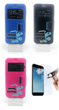 "it cover custodia pelle libro finestra asus zenfone go - 5"" zb500kl"