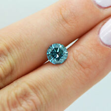 Natural Loose Diamond 1.75 Carat Fancy Blue SI Round Enhanced Certified For Ring