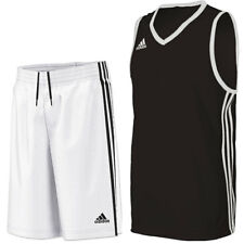 adidas Boy's Commander Basketball Kit Jersey & Shorts Set - Black & White