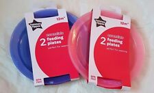 Tommee Tippee Essential 2 x Feeding Plates 6 Mths + Bpa Free New