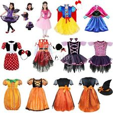 Kids Girls Prom Witch Queen Halloween Cosplay Costume Horror Fancy Dress Outfit