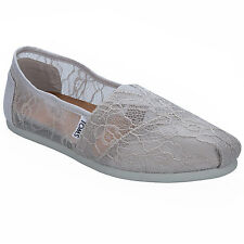 Womens Toms Lace Espadrille Pumps In Grey From Get The Label