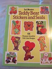Ted Menten Teddy Bear Stickers & Seals Book Dover 1985 64 Full Color Designs