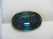 3.18ct Elongated Oval Blue INDICOLITE TOURMALINE - Saturated Blue