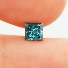 0.51 Carat Enhanced Blue SI1 Princess Natural Loose Diamond For Solitaire Ring