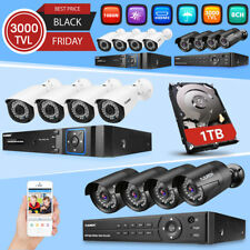 8CH 1080N CCTV DVR 2000TVL Outdoor Video Cameras Home Security System Kit 1TB HD