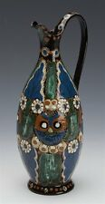 ANTIQUE SWISS ALT THOUNE MAJOLICA JUG SIGNED AS LATE 19TH C.
