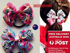 Girl Kids Children Shopkins Ribbon Bow Hair Head Ponytail Tie up Elastic Band