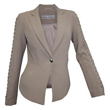 Blazer Ashley Brooke Gr 36 bis Gr 46 taupe Kurzblazer Schnürung Jacke