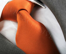 NEW ITALIAN DESIGNER BRIGHT ORANGE SILK TIE (& HANKY)