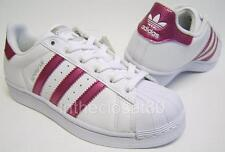 Adidas Superstar GS White Bold Pink Snake Juniors Womens Girls Trainers S81002