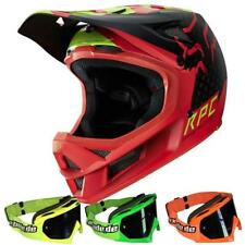 FOX DOWNHILL / MTB HELM - RAMPAGE PRO CARBON - rot + MX-Bude Brille