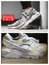 New Womens Nike Air Huarache Run ID PRM Wolf Grey Limited Edition size 5.5uk