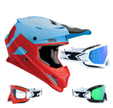 THOR SECTOR Nivel CASCO CROSS MOTOCROSS MX Azul Rojo two-x RACE Gafas de