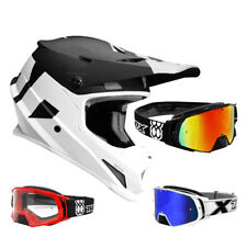 THOR SECTOR Nivel CASCO CROSS Motocross Blanco y negro two-x Cohete MX Gafas