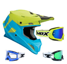 THOR SECTOR Nivel CASCO CROSS MOTOCROSS MX Azul Verde two-x RACE Gafas de