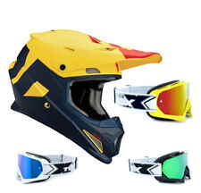 THOR SECTOR Nivel CASCO CROSS MOTOCROSS MX azul amarillo two-x RACE Gafas de