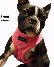 Soft fleece Dog Harness for puppy, small dogs to french bulldog Pink or Red
