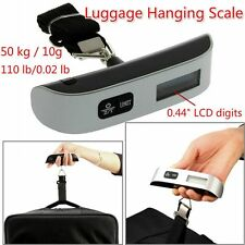 50kg Portable Hanging Electronic Digital Suitcase Luggage Weighing Scales BH