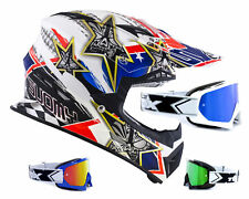 SUOMY CASCO CROSS RUMBLE Tex Azul Blanco two-x RACE MX Gafas de Motocross enduro