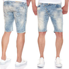 RED BRIDGE Herren Jeansshorts M-4825 Used Look mit Farbspritzern