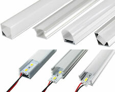 LED Profilo Alluminio Guida + barra luminosa Rigida Strip Bar Lich Modulo set