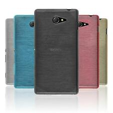 Coque en Silicone Sony Xperia M2 - brushed  + films de protection