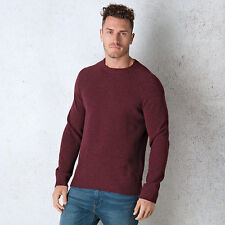 Men&Apos;S Levis Hayes Crew Neck Knit Jumper In Burgundy From Get The Label
