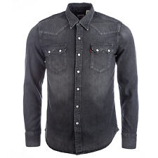 Men&Apos;S Levis Sawtooth Western Laundered Shirt In Charcoal From Get The Label
