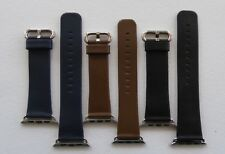 IWATCH STRAP - BLACK CALF LEATHER 38MM AND 42MM - UK SELLER