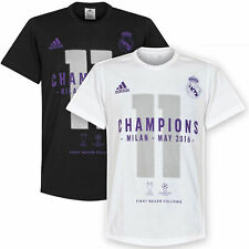 adidas Boy's Real Madrid 11 Times UCL Winners T-Shirt Football Casual Fashion