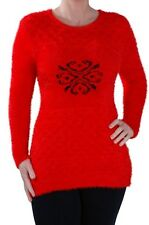 Womens Casual Long Sleeve Scoop Neck Jumper Hip Length Sweater Ladies Pullover