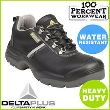 Delta Plus Panoply Wide Fit MONTBRUN Safety Work Shoes Steel Toe Black Leather