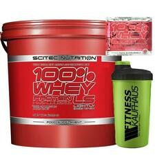 Scitec Nutrition 100% Whey Protein Professional LS 5000g Eiweiss+ Shaker + Probe