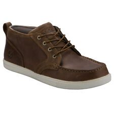 Mens Timberland Fulk Lp Chukka Boots In Brown-Lace Fastening-Padded Collar-Pull