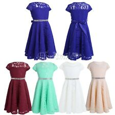 Kids Girls Party Flower Formal Prom Bridesmaid Wedding Communion Pageant Dresses