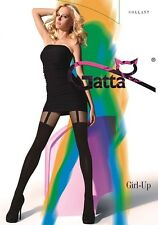 "Gatta ""Girl-Up 01"" Strumpfhose in Halterlos-Optik in schwarz"