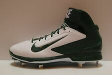 Nike MENS 12.5 HUARACHE PRO air mid metal Baseball Cleats green white 599235-131