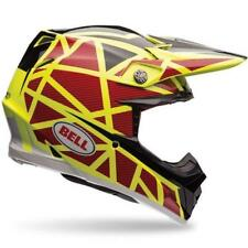 BELL MOTO-9 FLEX STRAPED Casco Motocross 2017 - amarillo-rojo Enduro MX Cros