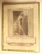 NEW BOX OF 30 ANTIOCH BOOKPLATES - MAN ON LADDER IN LIBRARY SEALED SELF ADHESIVE