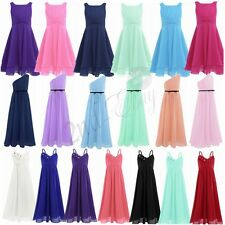 Chiffon Girl Flower Dress Party Formal Wedding Bridesmaid Pageant Prom Kids Gown