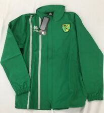 OFFICIAL NORWICH CITY FC STAFF WORN TRAINING RAIN JACKET